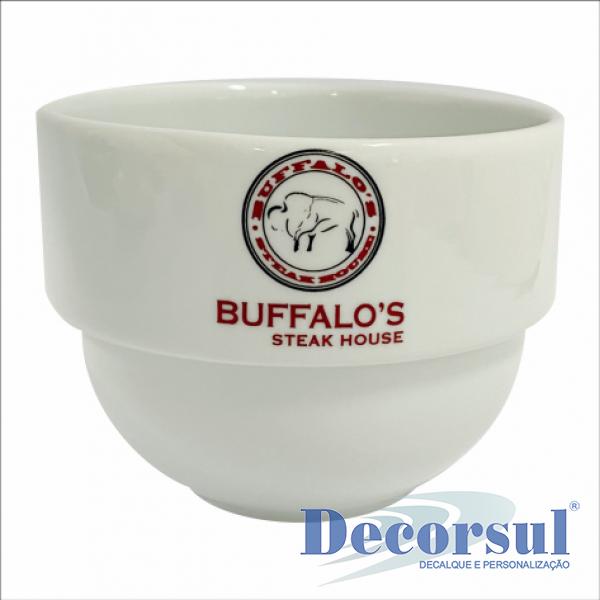 Tigela de porcelana personalizada funda Pro 750ml