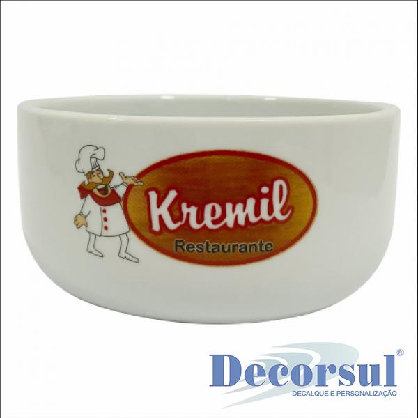 Tigela de porcelana personalizada 500ml Bold