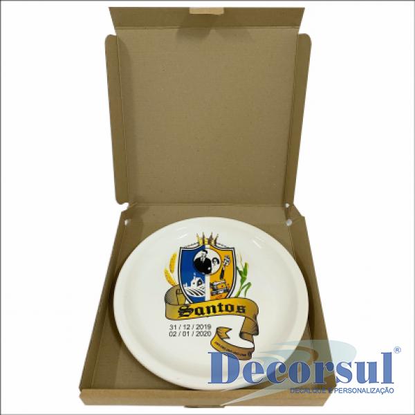 Embalagem Kraft individual para prato raso
