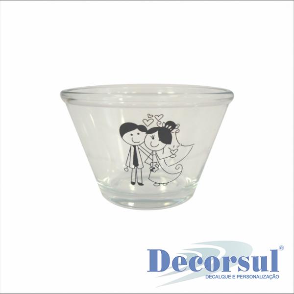 Tigela de vidro personalizada saladeirinha Polimultiuso 170ml