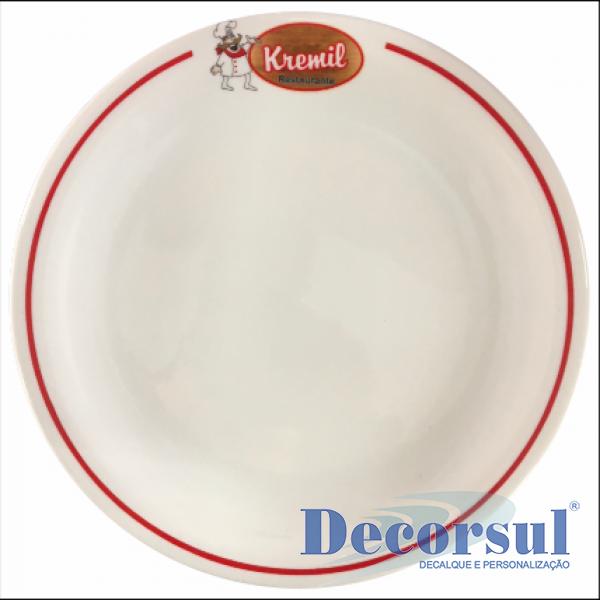 Prato de porcelana raso Protel 26cm diâmetro