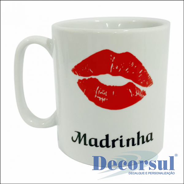 Caneca porcelana chocolate personalizada 300ml