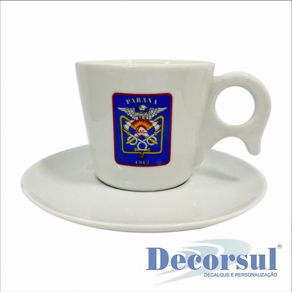Xícara porcelana chá personalizada Dinamarca 200ml