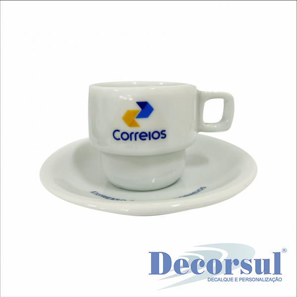 Xícara porcelana para café personalizada Bar Hotel 75ml