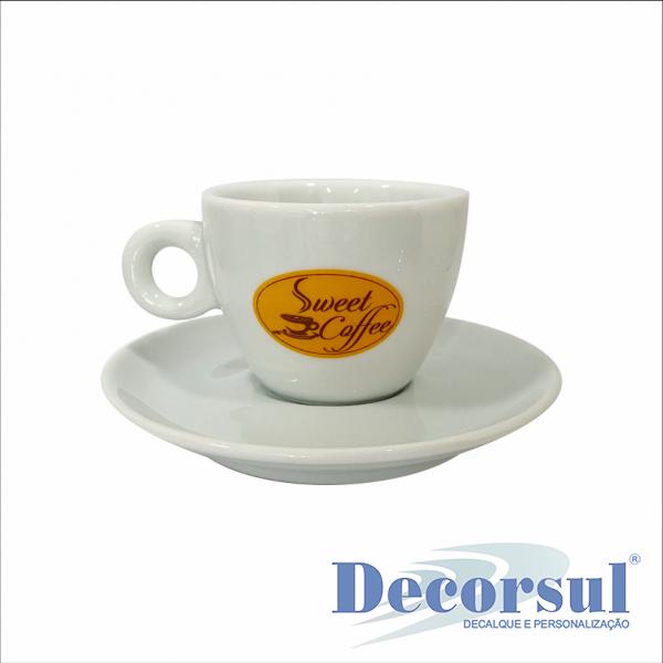 Xícara porcelana café personalizada Italia 75ml