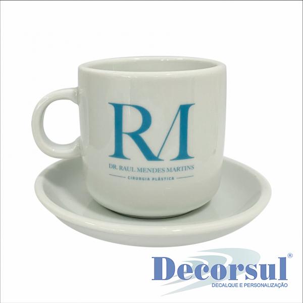Xícara porcelana chá personalizada Bold 220ml