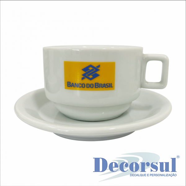 Xícara porcelana chá personalizada Bar Hotel 200ml