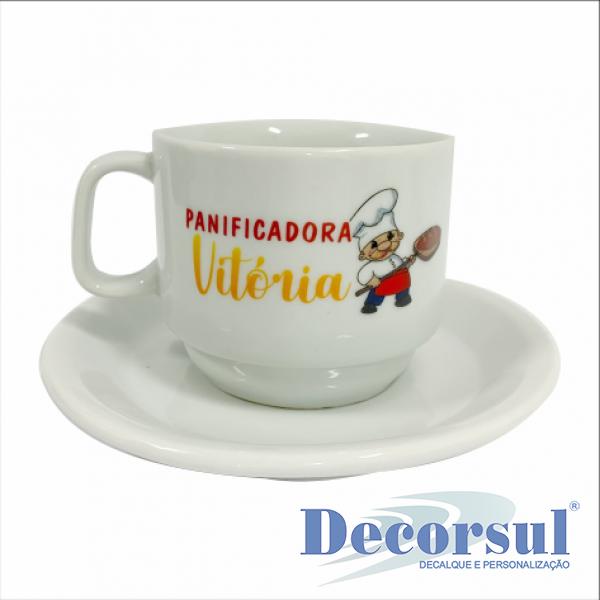 Xícara porcelana chá personalizada Iguaçu 200ml